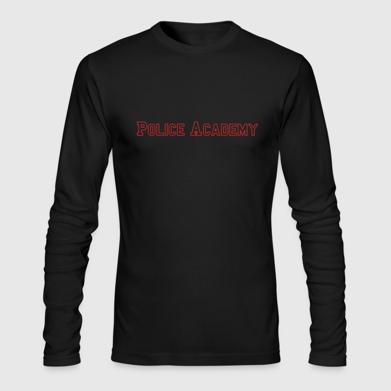 Black Police Academy Men - Men's Long Sleeve T-Shirt by Next Level
