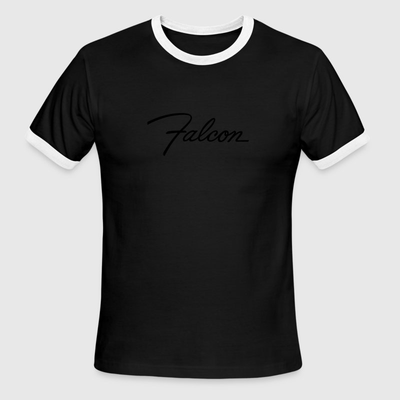 Chocolate/tan Ford Falcon script emblem - AUTONAUT.com T-Shirts - Men's Ringer T-Shirt