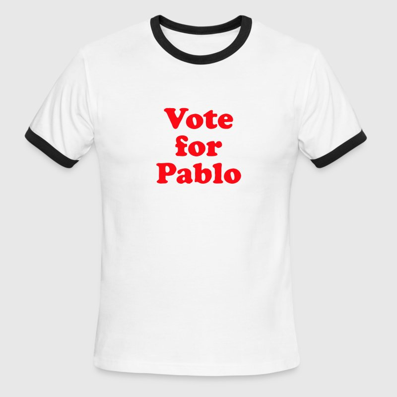 White/black Vote for Pablo Men - Men's Ringer T-Shirt