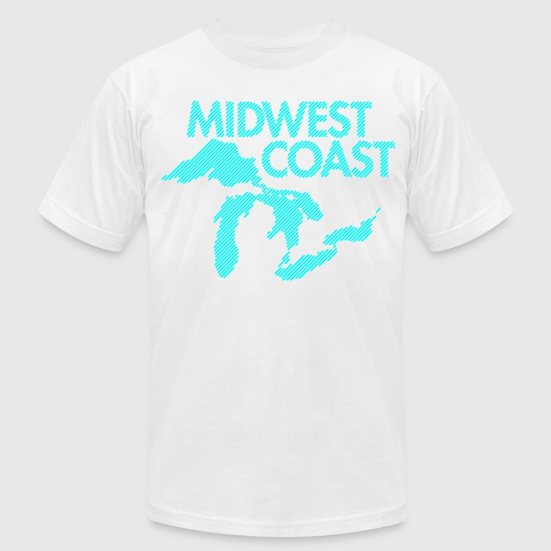Midwest Coast T-Shirts - Men's T-Shirt by American Apparel