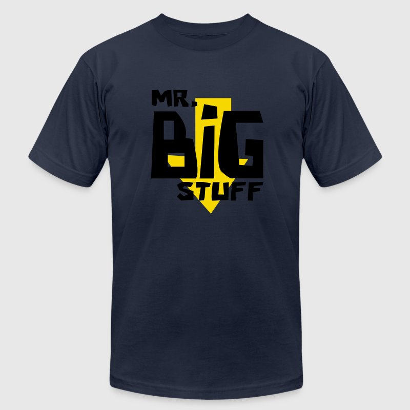 Navy Mr. Big Stuff Men - Men's T-Shirt by American Apparel