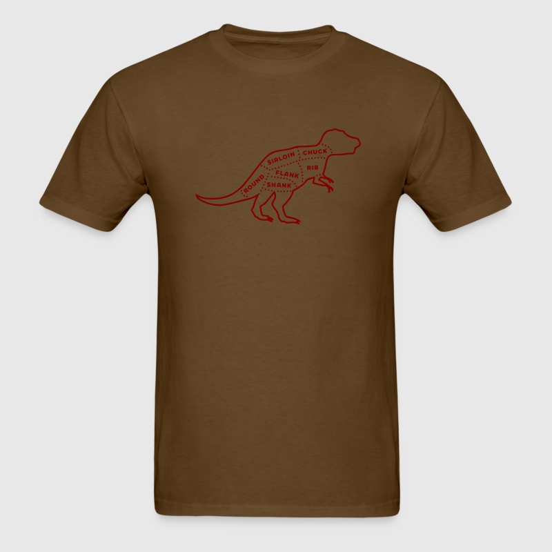 Brown Dinosaur Meat Chart Men - Men's T-Shirt