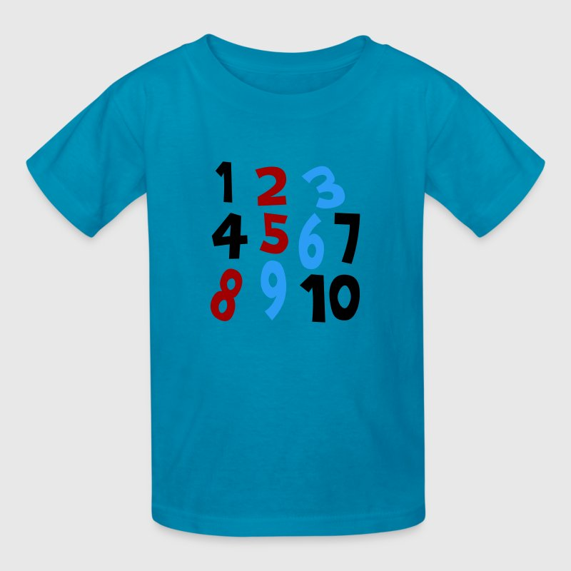 Classic pink Numbers 1 - 10 Without Background Kids & Baby - Kids' T-Shirt