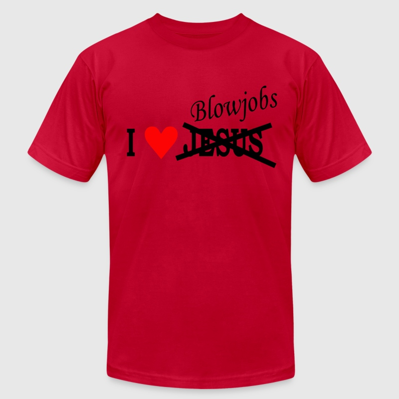 Pink I love Blowjobs - Heart Men - Men's Fine Jersey T-Shirt