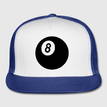 White Pool 8 - Billard - Eight - Cool Accessories - Trucker Cap