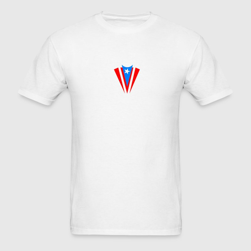 White pr_flag_002 Men - Men's T-Shirt