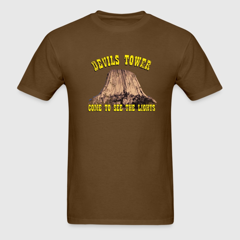 Brown devils Tower T-Shirts - Men's T-Shirt