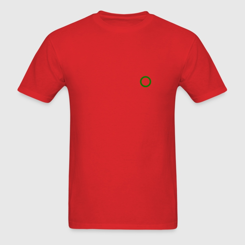 Red Ring circle marker Men - Men's T-Shirt
