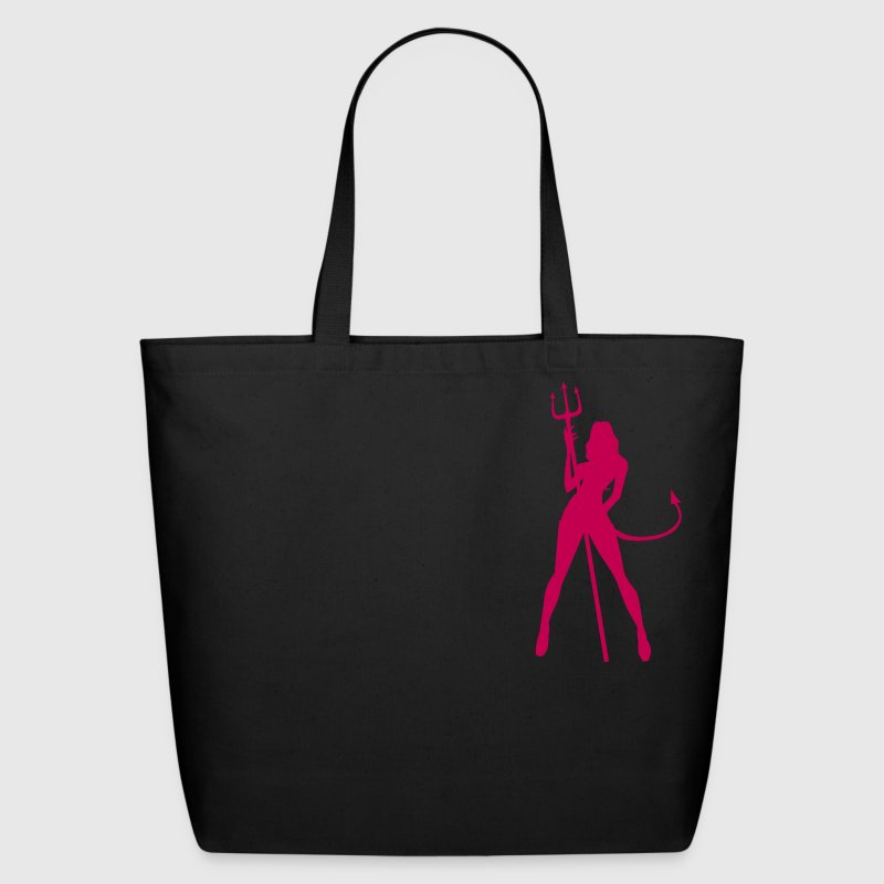 Black Devil Girl, Hot Accessories - Eco-Friendly Cotton Tote