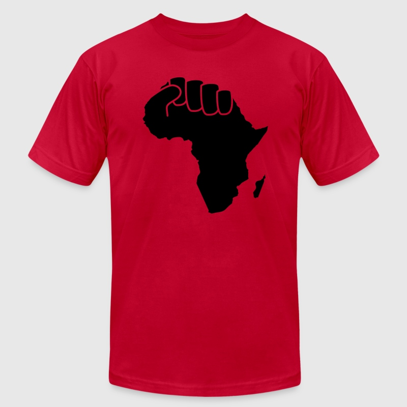 Brown black power Men - Men's T-Shirt by American Apparel
