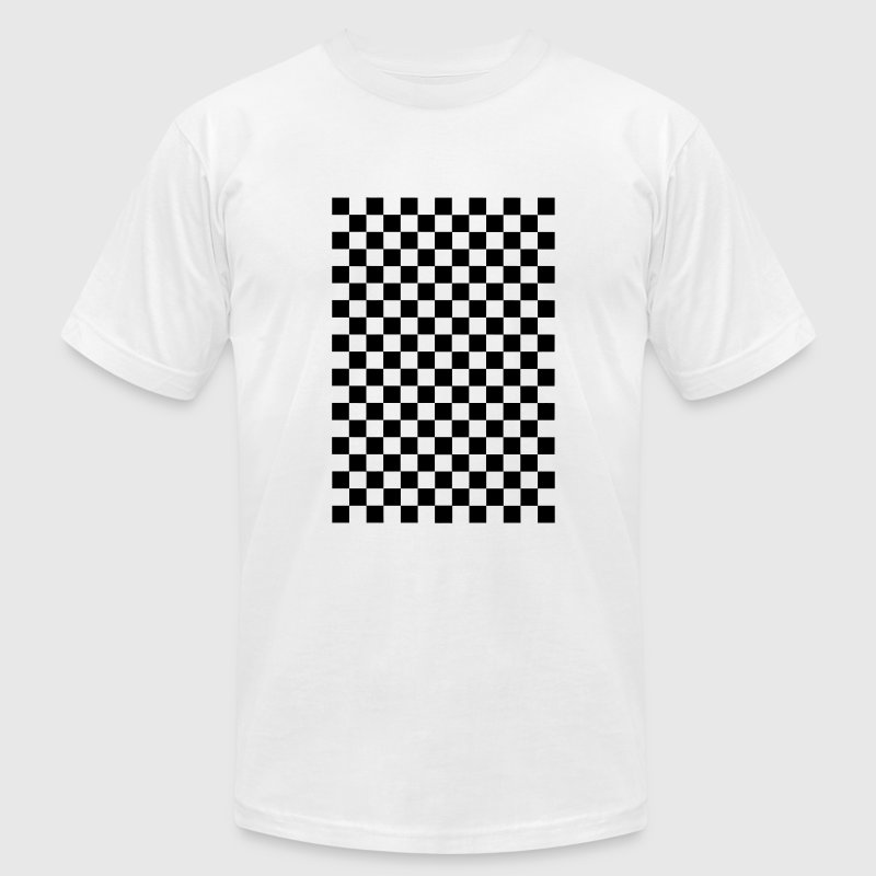 White Small Checkers Men - Men's T-Shirt by American Apparel
