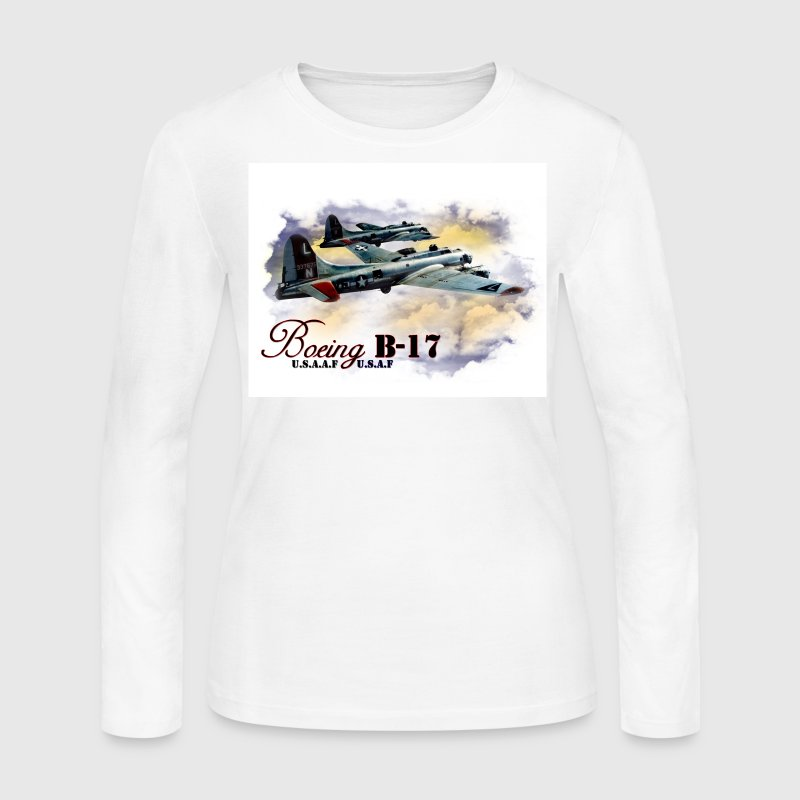 Boeing B-17 Long Sleeve Shirts - Women's Long Sleeve Jersey T-Shirt