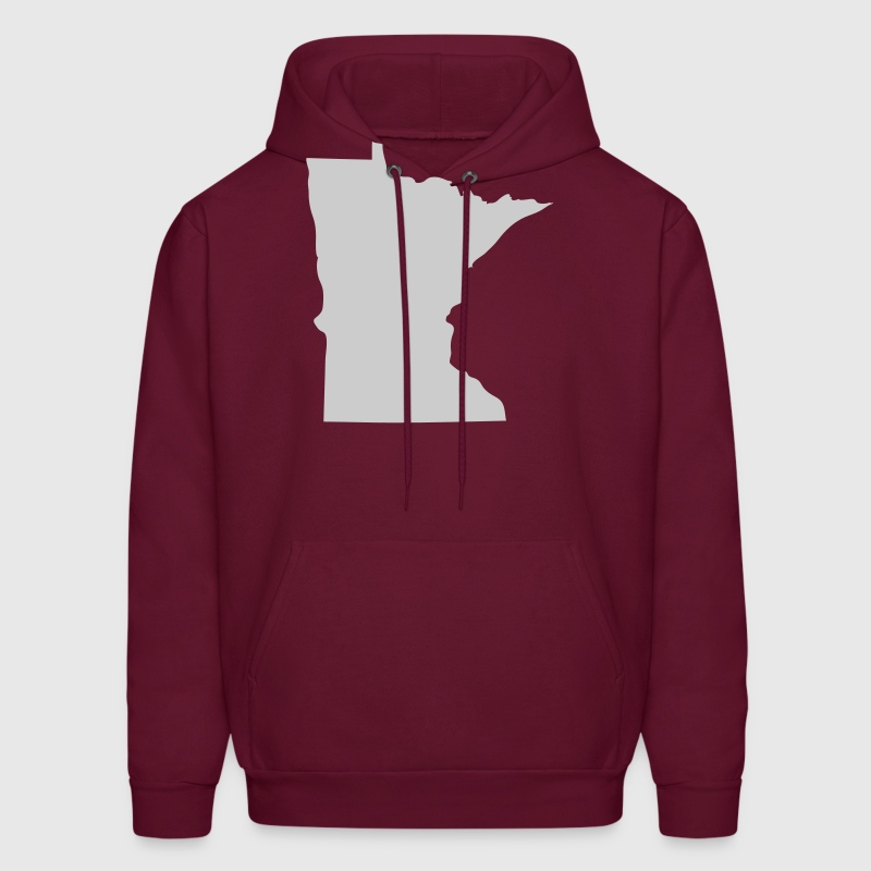 Burgundy State of Minnesota solid Men - Men's Hoodie