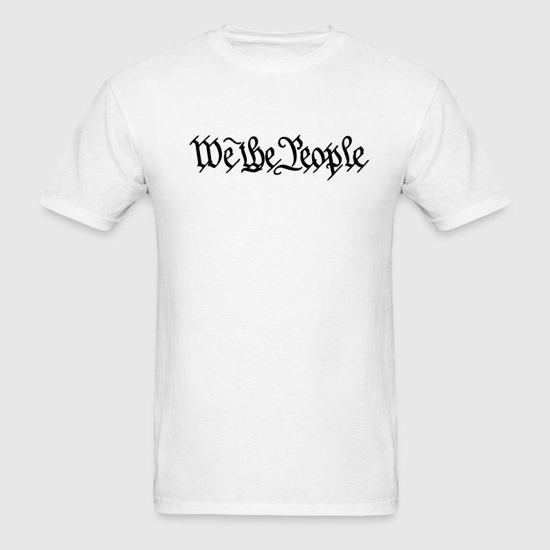 White We the People US Constitution Men - Men's T-Shirt
