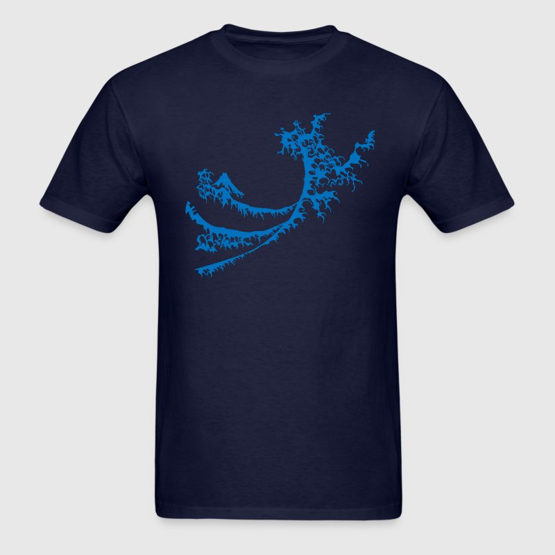 Navy Big Blue Surfing Wave Design Men - Men's T-Shirt