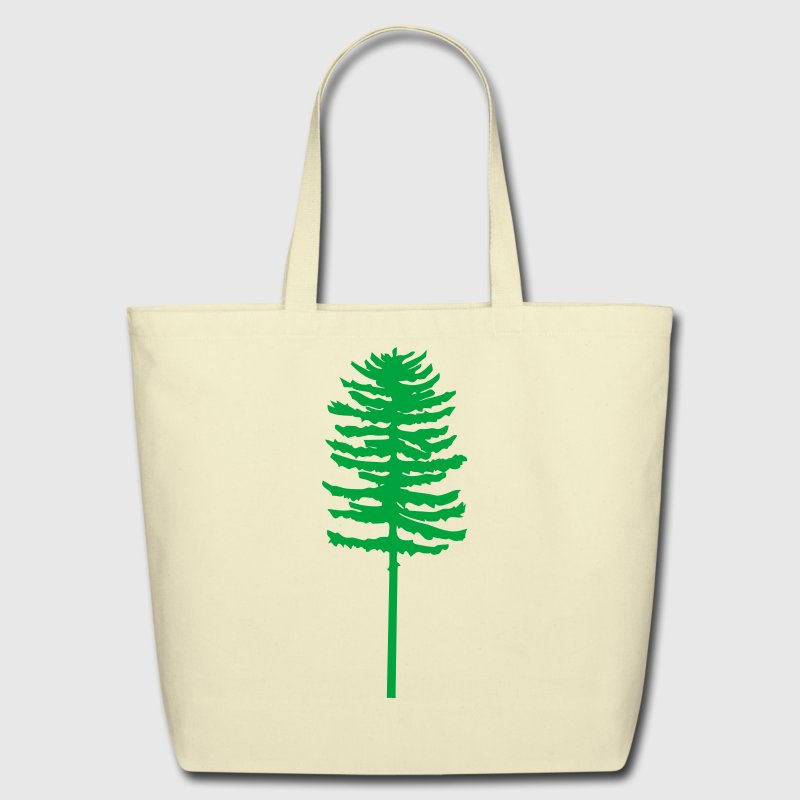 Creme tall skinny green tree Accessories - Eco-Friendly Cotton Tote