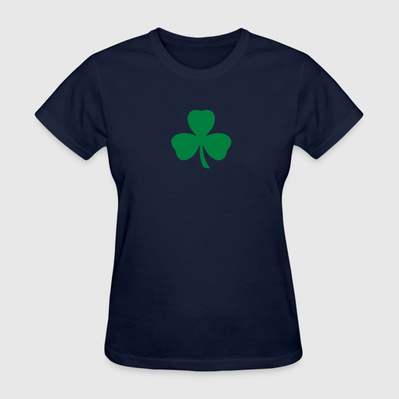 Navy Three Leaf Clover Shamrock Women - Women's T-Shirt