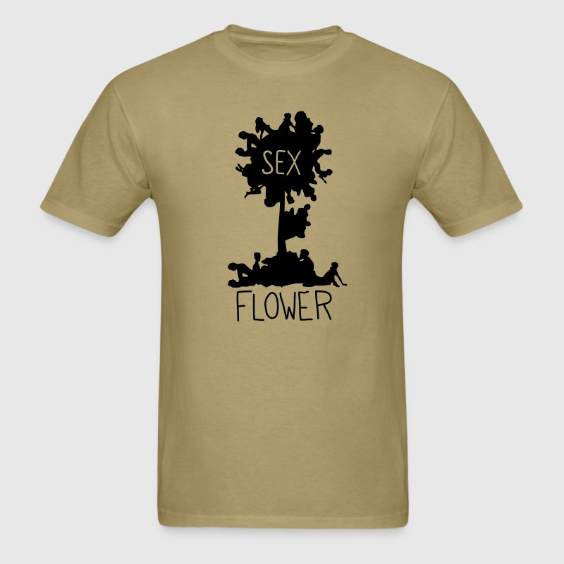 Khaki Sex Flower T-Shirts (Short sleeve) - Men's T-Shirt