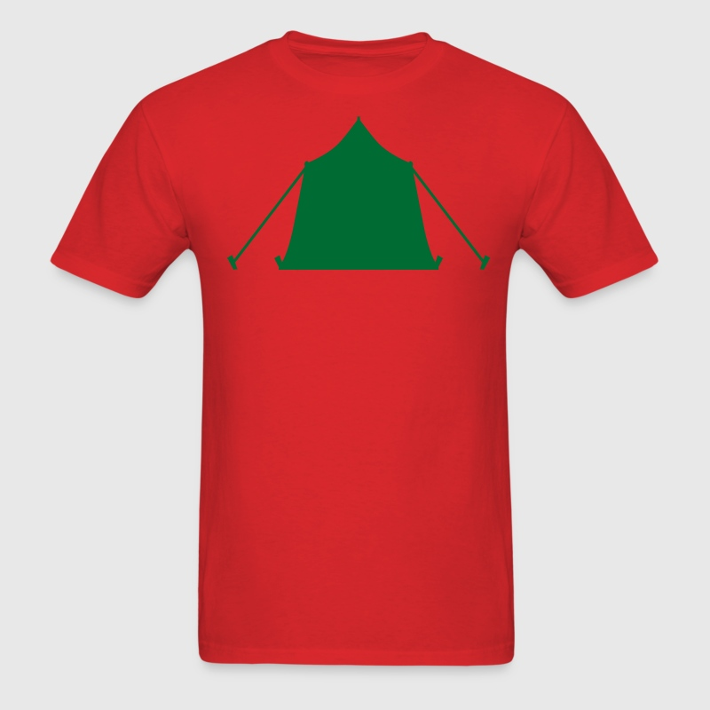 Red camping tent symbol T-Shirts (Short sleeve) - Men's T-Shirt