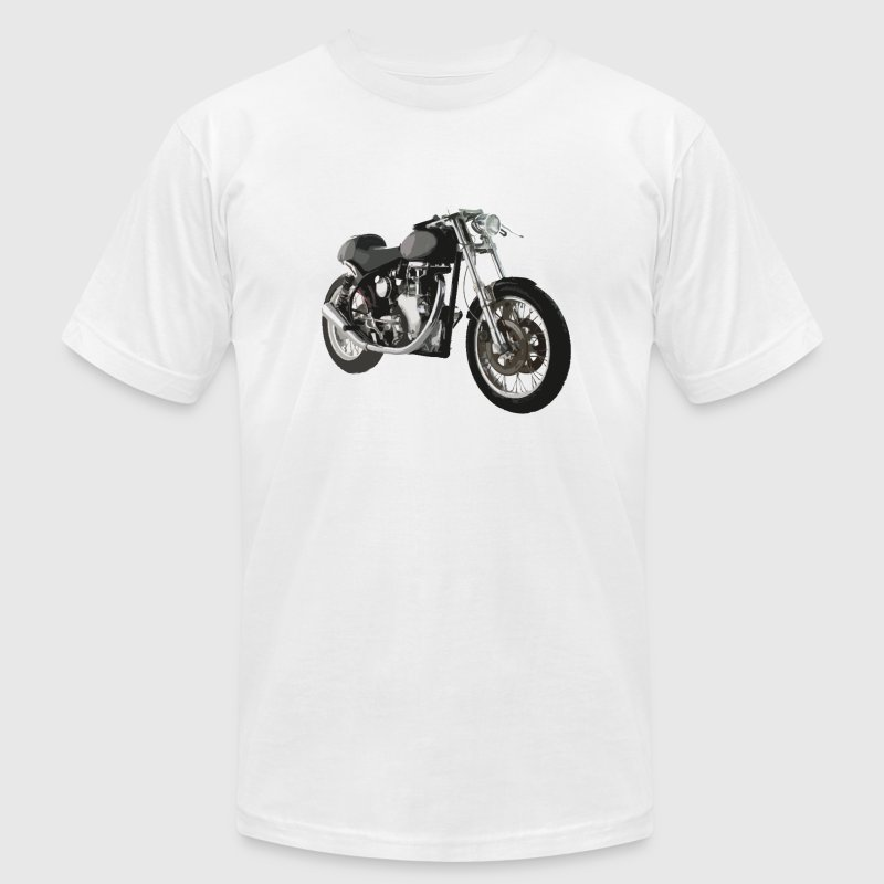 White cafe racer bike t-shirt design T-Shirts (Short sleeve) - Men's T-Shirt by American Apparel