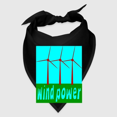 Black Wind Power With Wind Turbines Bags  - Bandana