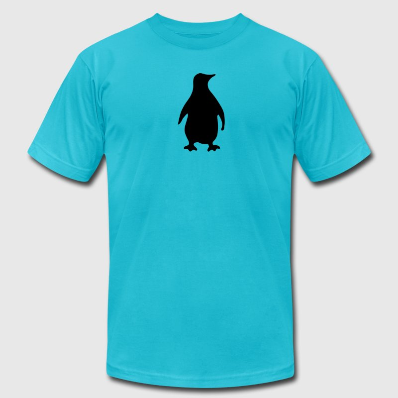 Turquoise penguin T-Shirts (Short sleeve) - Men's Fine Jersey T-Shirt