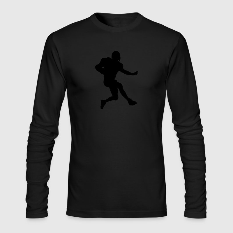 Black football running back T-Shirts (Long sleeve) - Men's Long Sleeve T-Shirt by Next Level
