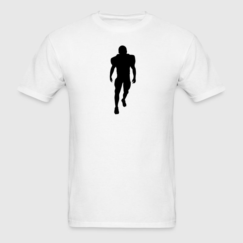 White football player silhouette T-Shirts (Short sleeve) - Men's T-Shirt