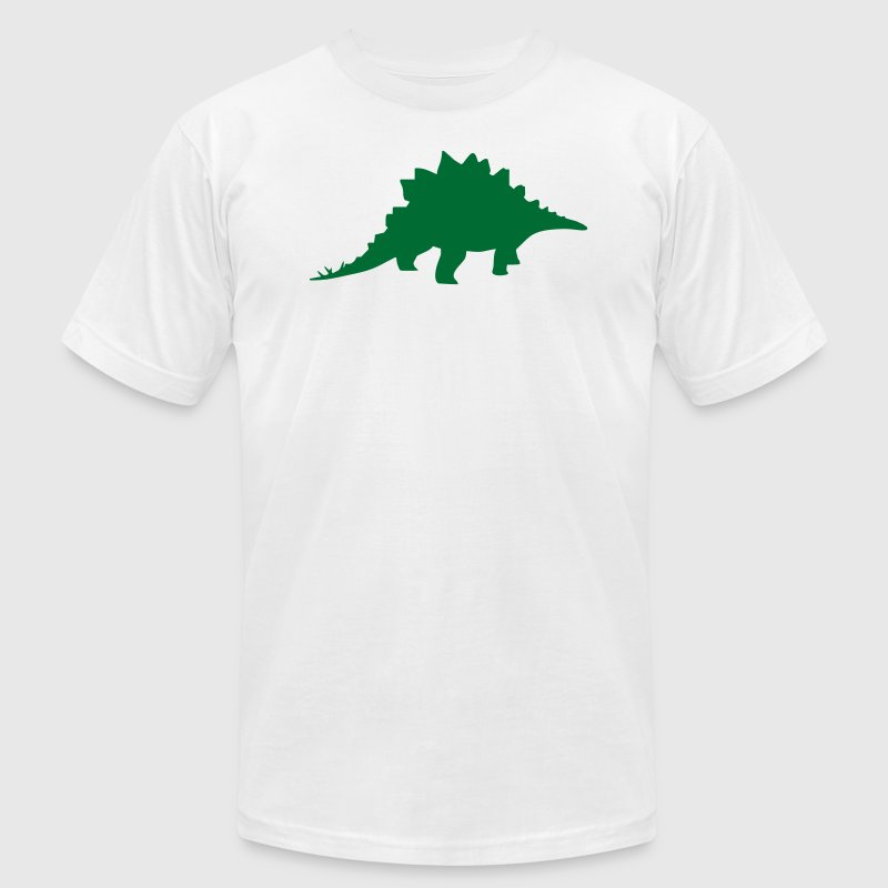Gold dinosaur stegosaurus T-Shirts (Short sleeve) - Men's T-Shirt by American Apparel