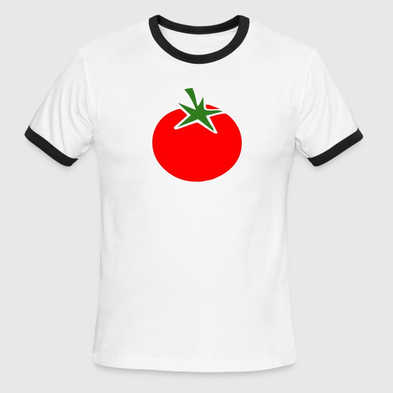 White/red tomato T-Shirts (Short sleeve) - Men's Ringer T-Shirt