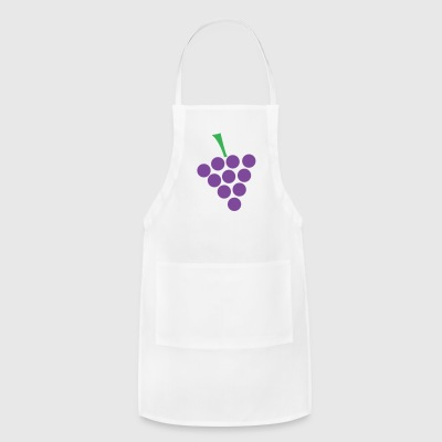 White Grapes Buttons - Adjustable Apron