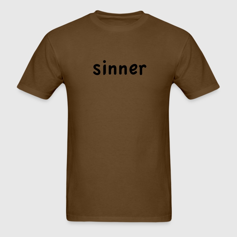 Brown sinner T-Shirts (Short sleeve) - Men's T-Shirt