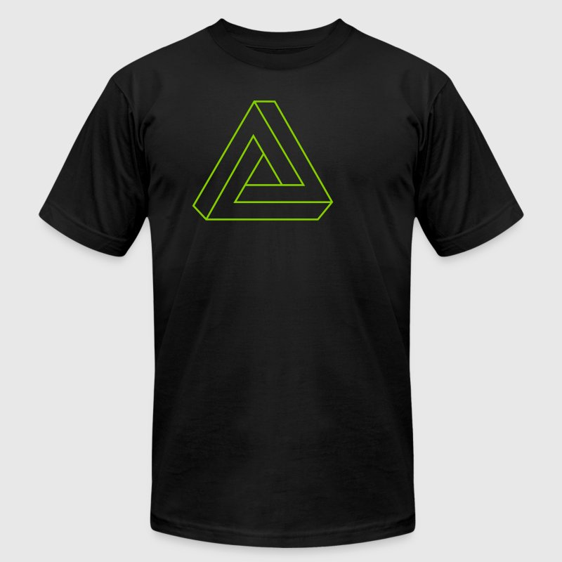 Black Impossible Triangle T-Shirts (Short sleeve) - Men's Fine Jersey T-Shirt
