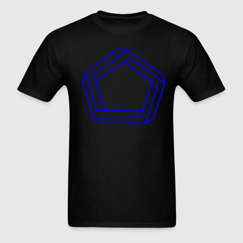 Black Impossible Pentagon T-Shirts (Short sleeve) - Men's T-Shirt