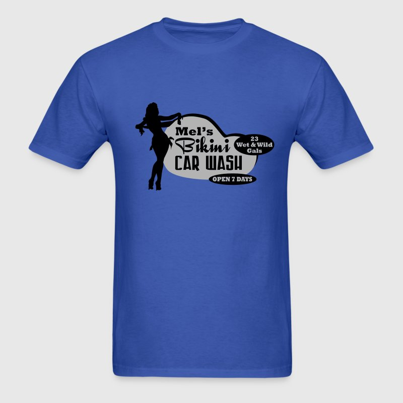Retro Bikini Car Wash - Men's T-Shirt