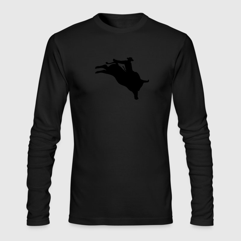 Black bull rider T-Shirts (Long sleeve) - Men's Long Sleeve T-Shirt by Next Level
