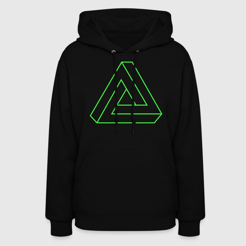 Black Impossible Triangle Hooded Sweatshirts - Women's Hoodie