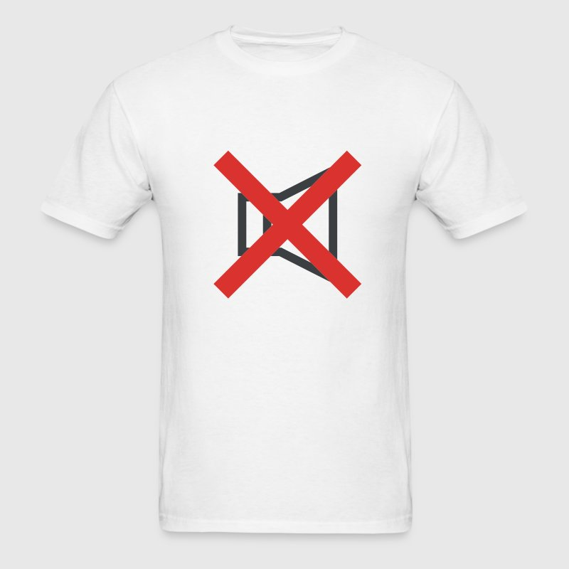 White Mute - No - Forbidden - Speakers T-Shirts (Short sleeve) - Men's T-Shirt