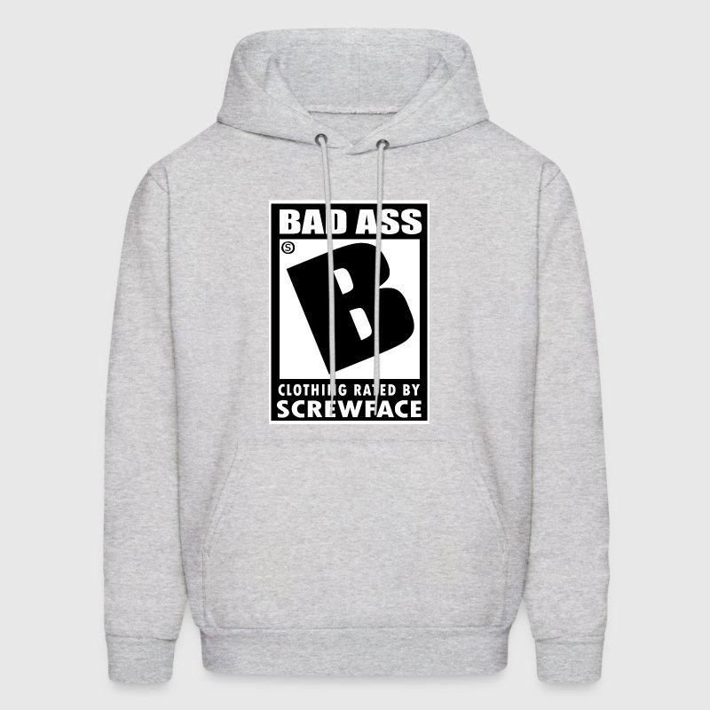 Ash  Rated B for badass Hoodies - Men's Hoodie