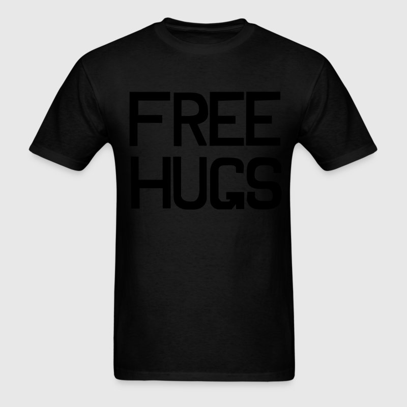 Black Free hugs T-Shirts (Short sleeve) - Men's T-Shirt