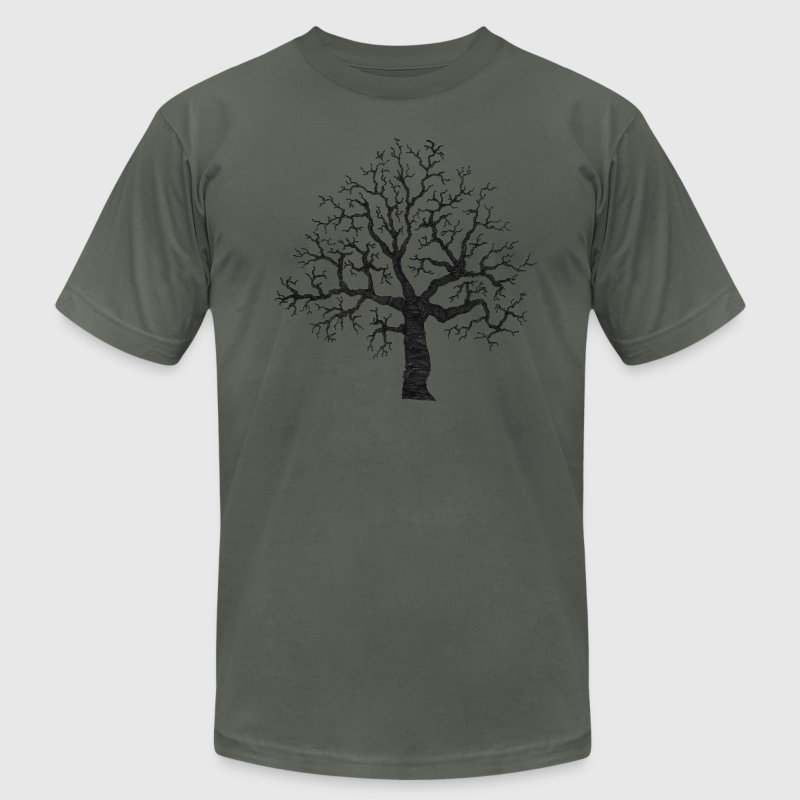 Asphalt Roots Tree Design T-Shirts (Short sleeve) - Men's Fine Jersey T-Shirt