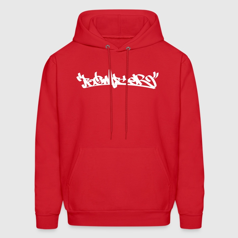 Red Bomber White Hoodies - Men's Hoodie