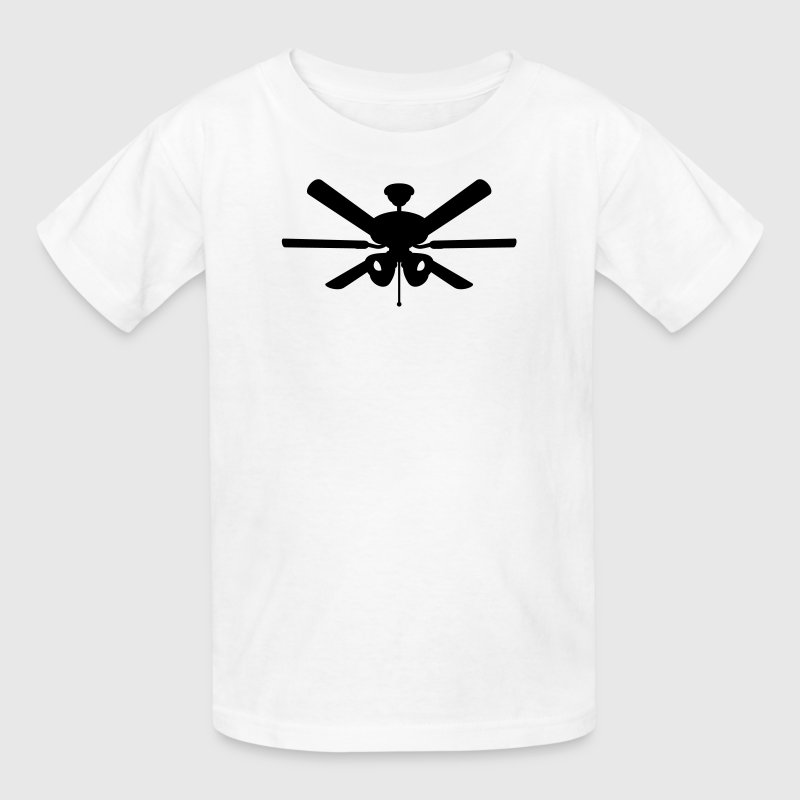 White ceiling fan Kids Shirts - Kids' T-Shirt