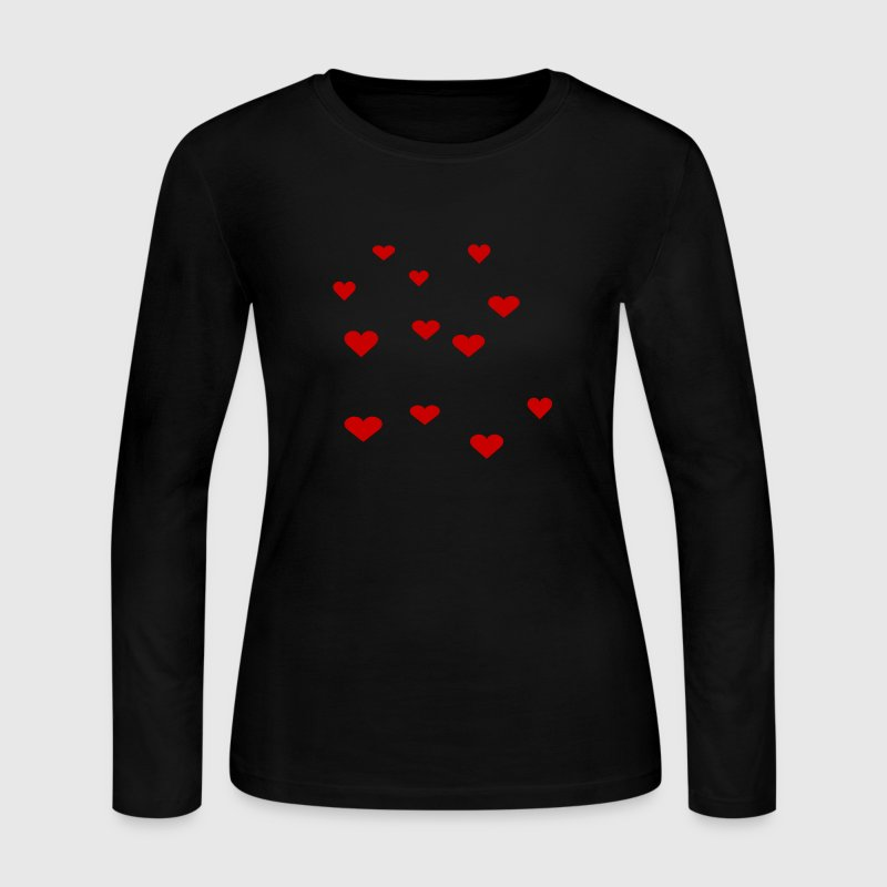 Black 12 Assorted Hearts Long sleeve shirts - Women's Long Sleeve Jersey T-Shirt