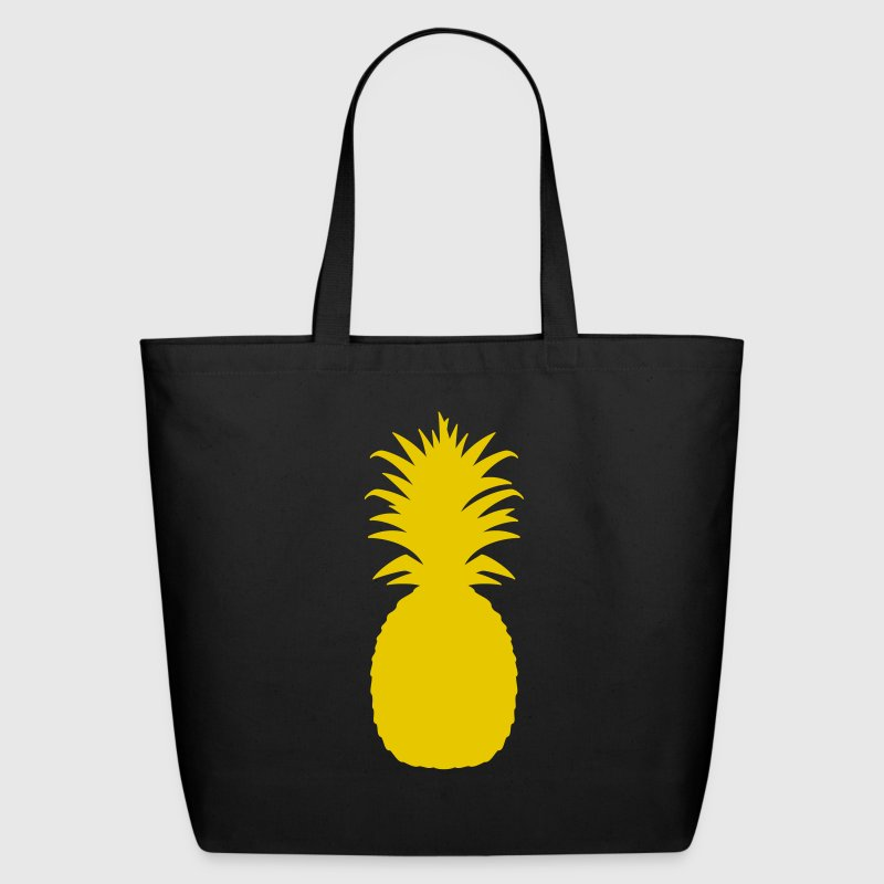Black pineapple Bags  - Eco-Friendly Cotton Tote