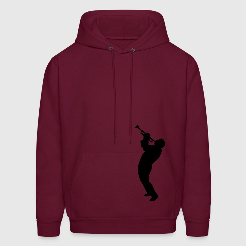 Burgundy trumpet player Hoodies - Men's Hoodie