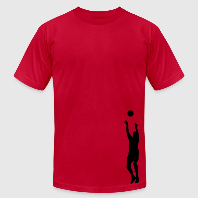 Orange volleyball setter T-Shirts - Men's T-Shirt by American Apparel