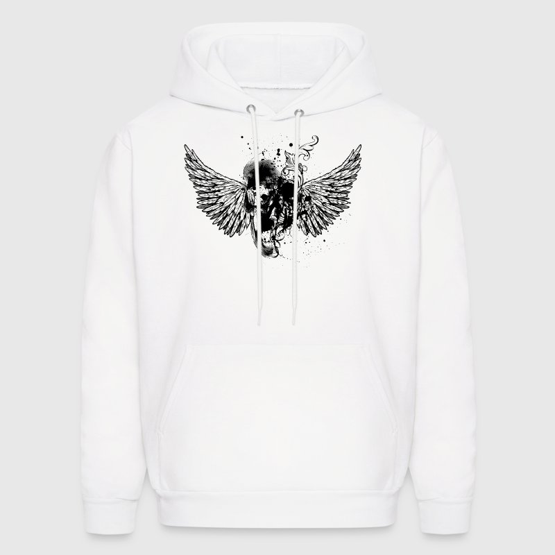 White Cool Graffiti Abstract Skull Design Hoodies - Men's Hoodie