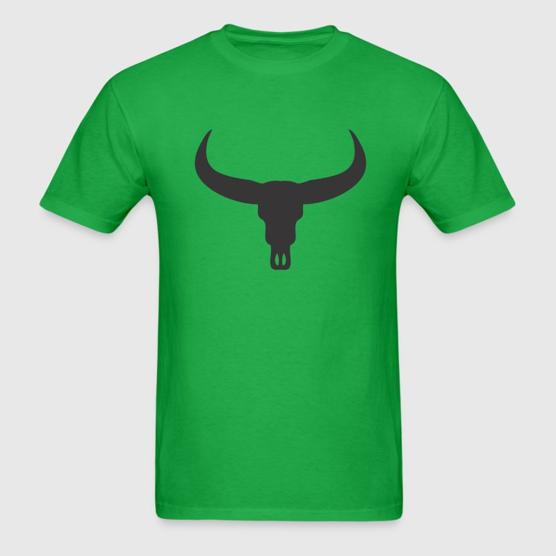 Bright green Bull Skull T-Shirts - Men's T-Shirt