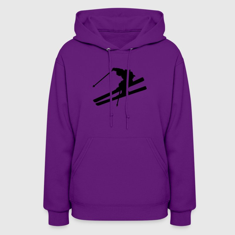 Light pink skier Hooded Sweatshirts - Women's Hoodie